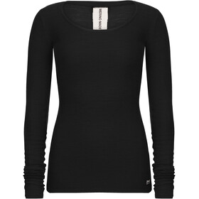 super.natural Rib Longsleeve Dames, jet black